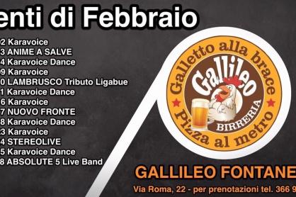 Il programma di febbraio al Gallileo di Fontanelle
