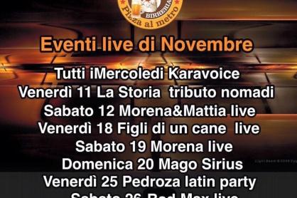 Gli eventi novembre al Gallileo di Volpago