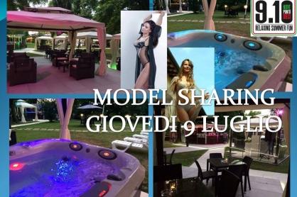 Model sharing alla terrazza 9.10