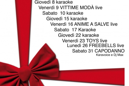 Il programma di dicembre al Gallielo di Fontanelle